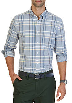 Nautica Classic Fit Boardwalk Plaid Shirt