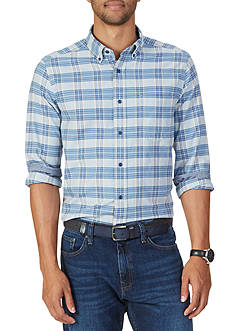 Nautica Classic Fit Anchor Plaid Shirt