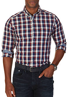 Nautica Classic Fit Marine Plaid Shirt