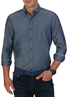 Nautica Classic Fit Solid Chambray Shirt