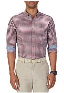 Nautica Classic Fit Navy Plaid Shirt