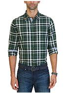 Nautica Slim Fit Kelp Plaid Shirt