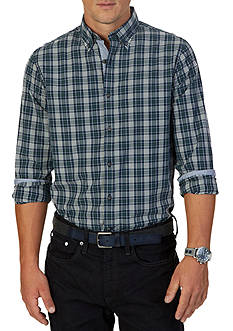 Nautica Slim Fit Marine Plaid Shirt
