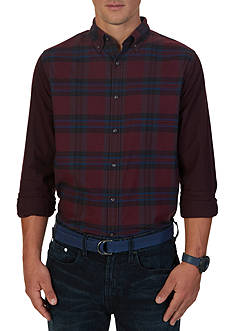 Nautica Slim Fit Helmsman Plaid Shirt