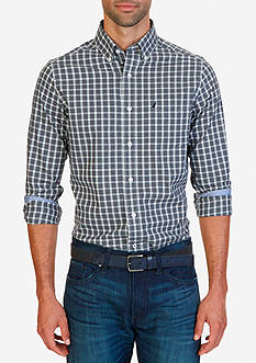 Nautica Classic Fit Wrinkle Resistant Mineral Plaid Shirt