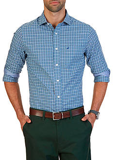 Nautica Classic Fit Wrinkle Resistant Sail Check Shirt