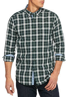Nautica Classic Fit Kelp Plaid Shirt