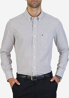 Nautica Classic Fit Wrinkle Resistant Plaid Shirt