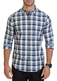 Nautica Slim Fit Seedpearl Plaid Shirt