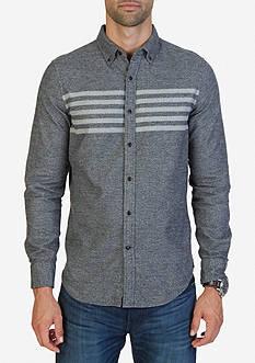 Nautica Slim Fit Chest Striped Moleskin Shirt