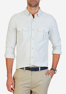 Nautica Slim Fit Double Pocket Moleskin Shirt