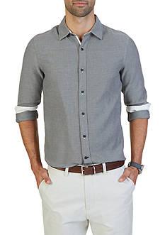 Nautica Slim Fit Cotton Tweed Shirt
