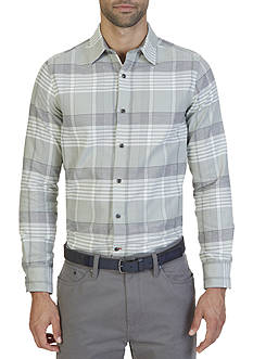 Nautica Slim Fit Seashore Plaid Oxford Shirt