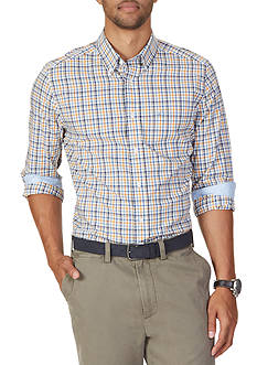 Nautica Classic Fit Wrinkle Resistant Estate Plaid Shirt