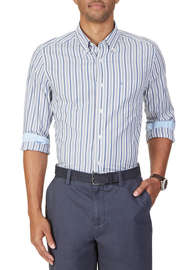 Nautica Classic Fit Wrinkle Resistant Stripe Shirt