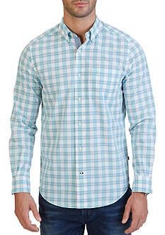 Nautica Classic Fit Petrol Plaid Shirt