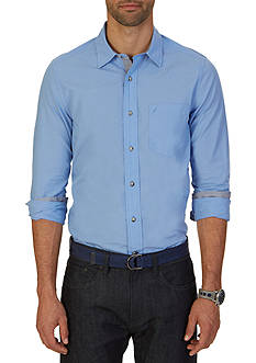 Nautica Classic Fit Textured Stripe Shirt