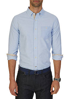 Nautica Slim Fit Striped & Color Blocked Shirt
