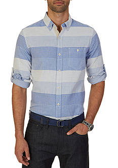 Nautica Slim Fit Mixed Design Shirt