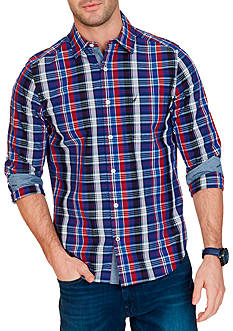 Nautica Classic-Fit Plaid Button Down Shirt