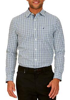 Nautica Slim-Fit Cobalt Plaid Shirt