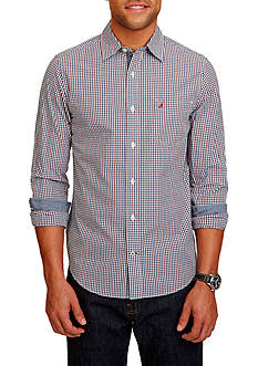 Nautica Slim-Fit Cobalt Plaid Shirt