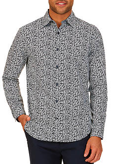 Nautica Classic-Fit Leaf Print Button Down Shirt