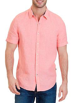 Nautica Classic-Fit Linen Short Sleeve Shirt