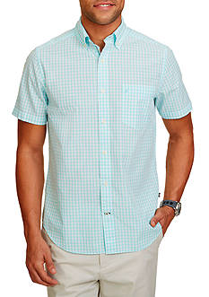 Nautica Classic-Fit Gingham Short Sleeve Shirt