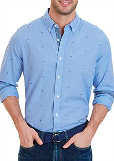 Nautica Classic Fit Mini Check Poplin Shirt