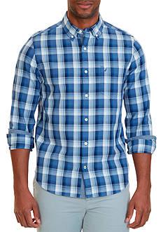 Nautica Slim Fit Mist Plaid Shirt