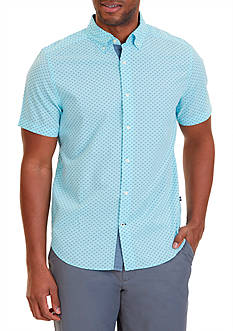 Nautica Classic Fit Printed Short Sleeve Shirt