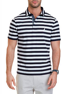 Nautica Big & Tall Short Sleeve Stripe Polo Shirt