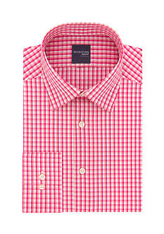 Madison Long Sleeve Slim Fit Stretch Poplin Dress Shirt