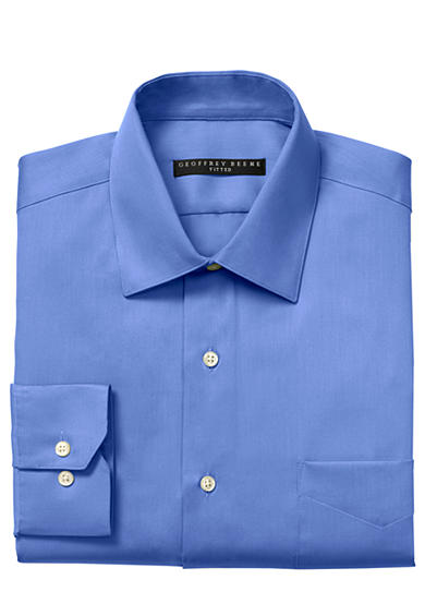 Geoffrey Beene Fitted Wrinkle-Free Dress Shirt
