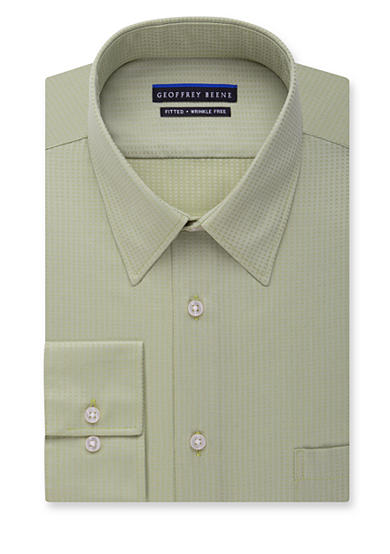 geoffrey beene wrinkle free non iron fitted dress shirt