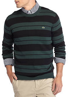 Lacoste Long Sleeve Stripe Jersey Crewneck Sweater
