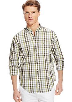 Lacoste Poplin Long Sleeve Gingham Button-Down Check Shirt