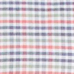 Lacoste: Dill/Energy Red Lacoste Long Sleeve Oxford Multi-Color Check Button Down Shirt