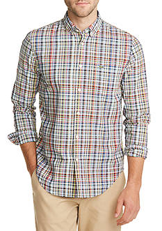 Lacoste Resort Long Sleeve Plaid Button Down Shirt