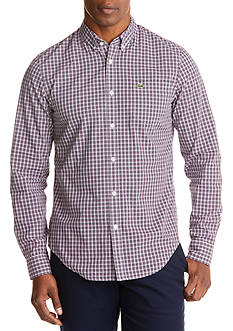 Lacoste Long Sleeve Poplin Stretch Slim Fit Button Front Shirt