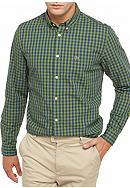 Lacoste Long Sleeve Gingham Check Button Down