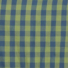 Men: Lacoste Designer: Philippines Blue/Dill Lacoste Long Sleeve Gingham Check Button Down Shirt