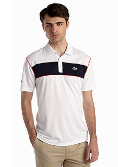 Lacoste Ultra Dry Sport Pique Chest Stripe Polo