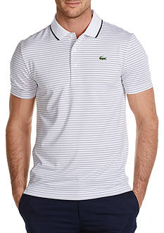 Lacoste Sport Golf Short Sleeve Ultradry Fine Stripe Polo Shirt