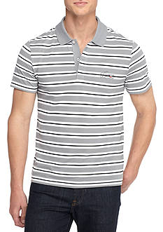 Lacoste Short Sleeve Stripe Pique Polo Shirt