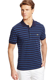 Lacoste Cotton Pique Bar Stripe Polo