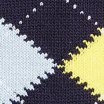 Lacoste™ men: Indian/Flesh-Sky Blue-Ocean Blue-White-Daisy Lacoste Argyle Socks - Single Pair