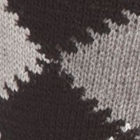 Lacoste™ men: Black/Silver Chine-Stone Lacoste Argyle Socks - Single Pair