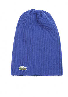 Lacoste Ribbed Wool Beanie Hat